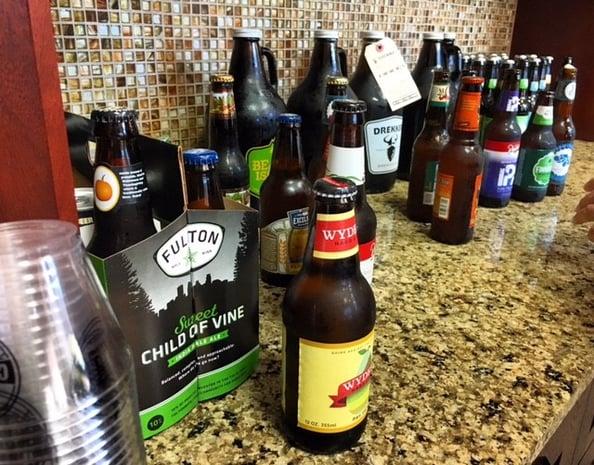 Craft Beer Tasting for United Way Week at Leighton Enterprises