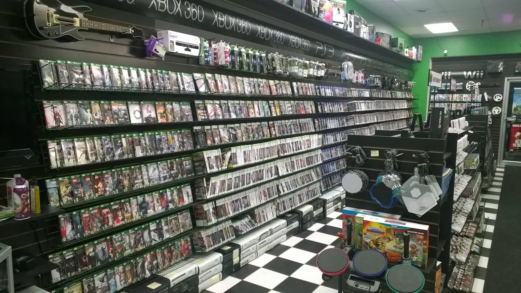 Warpzone Video Games Store Interior