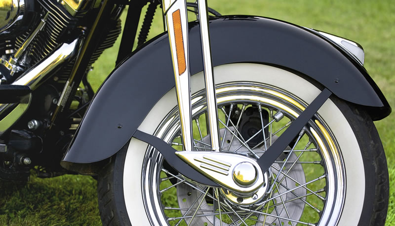 What is a Company's Brand? What's your Brand?   Harley-Davidson Motorcyle Closeup of Front Wheel