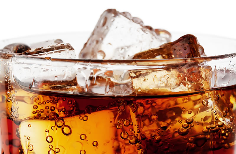 Your Business and the Battle for Mental Real Estate, Close-up of a glass of Soda