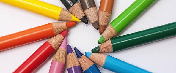 Your Circle of Influence and Radio Go Hand-in-Hand, A Circle of Colored Pencils