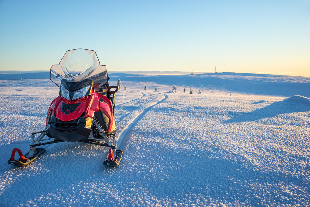 This is an image of a snowmobile