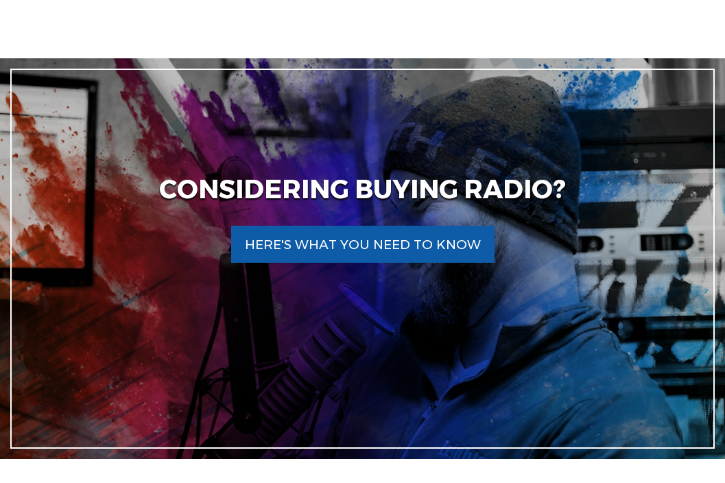 Considering Buying Radio? Here's What You Need to Know
